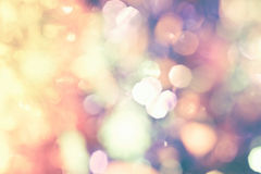 Abstrakcjonistyczny cukierki retro i rocznik kolor bokeh oświetlenie wewnątrz Fotografia Stock