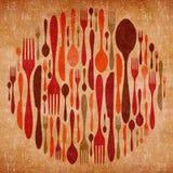 Abstrakcjonistyczny cutlery rocznika tło royalty ilustracja