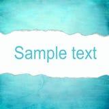 Abstrakcjonistyczny cyan tło z pustą przestrzenią dla teksta Zdjęcia Stock