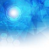 Abstrakcjonistyczny Cyfrowego hitech technologii tło Obrazy Stock