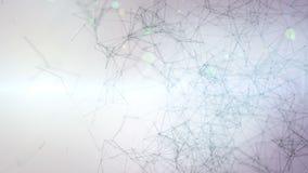Abstrakcjonistyczny cyfrowej komunikacji, technologii t?a plexus z i 4K ruchu grafika ilustracji