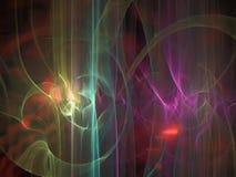Abstrakcjonistyczny cyfrowy fractal, deseniowa jaskrawa tapetowa kreatywnie łuny pokrywa, futurystyczny elegancja styl ilustracja wektor