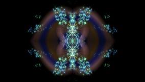 Abstrakcjonistyczny cyfrowy fractal, fantazja projekta wyobraźni wibrujący dekoracyjny ornament ilustracja wektor