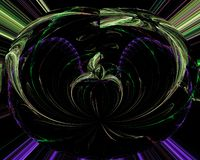 Abstrakcjonistyczny cyfrowy fractal, nowożytnej dekoracja elementu ruchu dynamicznej pięknej karty projekta dekoracyjny wibrujący ilustracja wektor