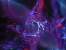 Abstrakcjonistyczny cyfrowy fractal, piękny elegancja projekt, elegancja futurystyczna ilustracja wektor