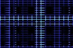 Abstrakcjonistyczny cyfrowy pionowo i horyzontalny elettric niebieskiej linii tła ruch, animaci technologia Obraz Stock