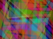 Abstrakcjonistyczny Cyfrowy Pokrywa się trójboka wzór zdjęcia stock