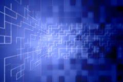 Abstrakcjonistyczny cyfrowy tło w błękicie Fotografia Royalty Free