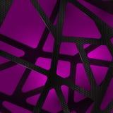 Abstrakcjonistyczny cyfrowy węgla tło na fiołku Fotografia Stock