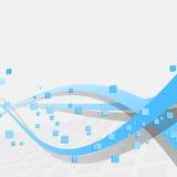Abstrakcjonistyczny cyfrowy wiatr - błękitni swooshes ilustracja wektor