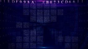 Abstrakcjonistyczny cyfrowy wstęp błękitny zbiory wideo
