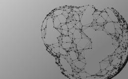 Abstrakcjonistyczny cząsteczki tło Zdjęcie Royalty Free