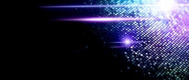 Abstrakcjonistyczny cząsteczki tło, dane techno tło z jarzyć się kropki, techniki pojęcie, błękitny ekran zdjęcie royalty free