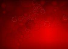 Abstrakcjonistyczny cząsteczkowy llustration tło Obraz Stock