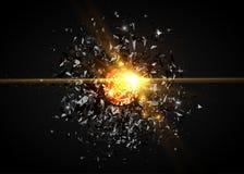 Abstrakcjonistyczny czarny cząsteczka wybuch Wektorowy tło royalty ilustracja