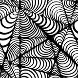 Abstrakcjonistyczny czarny i biały bezszwowy wzór royalty ilustracja