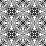 Abstrakcjonistyczny czarny i biały bezszwowy wzór Zdjęcie Stock