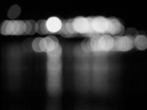 Abstrakcjonistyczny czarny i biały bokeh i rozmyty tło Obraz Royalty Free