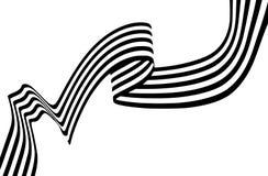Abstrakcjonistyczny czarny i biały lampasa bez przeszkód przegięty tasiemkowy geometrica fotografia royalty free