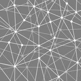 Abstrakcjonistyczny czarny i biały netto bezszwowy tło Obrazy Royalty Free