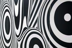 Abstrakcjonistyczny czarny i biały tło Obraz Royalty Free