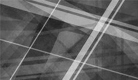 Abstrakcjonistyczny czarny i biały tło z przecinać wykłada i warstwy Obraz Royalty Free