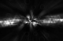 Abstrakcjonistyczny czarny i biały techniki tło ilustracja wektor