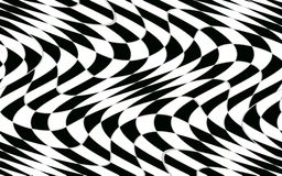 Abstrakcjonistyczny czarny i biały w kratkę wzór z wykoślawienie skutkiem Zdjęcia Royalty Free