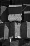 Abstrakcjonistyczny Czarny I Biały azjata domu dach Obrazy Royalty Free