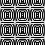 Abstrakcjonistyczny czarny i biały bezszwowy wzór Zdjęcia Royalty Free