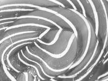 Abstrakcjonistyczny czarny i biały spirali lub zawijasa wzór Obrazy Royalty Free