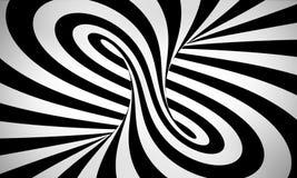 Abstrakcjonistyczny czarny i biały 3d tło Obraz Royalty Free