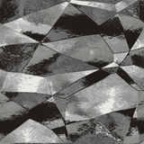 Abstrakcjonistyczny czarny i szary tło z lekkimi odbiciami przypomina metal folię Obraz Stock