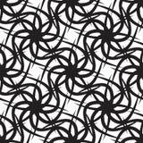Abstrakcjonistyczny Czarny kwiatu wzór Zdjęcia Stock