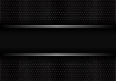 Abstrakcjonistyczny czarny metal linii sztandar na ciemnego zaokrąglonego prostokąt siatki projekta tła nowożytnym futurystycznym ilustracji