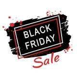 abstrakcjonistyczny czarny Piątek sprzedaży plakat Obrazy Stock