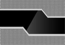 Abstrakcjonistyczny czarny szklany wielobok na szarość okręgu siatki wzoru projekta tła nowożytnym futurystycznym wektorze ilustracji