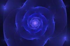 Abstrakcjonistyczny czarny tło z błękitnym i purpurowym rozjarzonym kwiatu cl Fotografia Stock