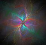 Abstrakcjonistyczny czarny tło z tęczą barwił kwiatu lub promieni Obrazy Stock