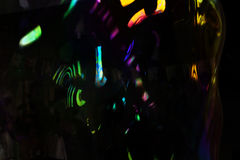 Abstrakcjonistyczny czarny tło z kolorów kleksami Zdjęcia Stock