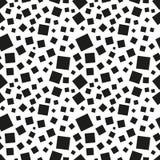 Abstrakcjonistyczny czarnych kwadratów bezszwowy wzór Zdjęcie Royalty Free