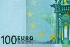 Abstrakcjonistyczny czerep banknot 100 euro Zdjęcie Stock
