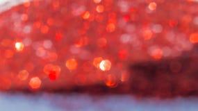Abstrakcjonistyczny czerwony bokeh i rozmyty tło Zdjęcie Stock