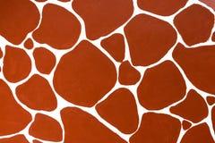Abstrakcjonistyczny czerwony brązu kolor żyrafy tekstura obraz stock