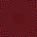 Abstrakcjonistyczny czerwony checkerd tło Zdjęcia Royalty Free