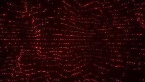 Abstrakcjonistyczny czerwony cząsteczki tło ilustracja wektor