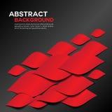 Abstrakcjonistyczny czerwony Geometrical tło projekt Fotografia Royalty Free