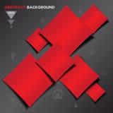 Abstrakcjonistyczny czerwony geometrical wektorowy tło Zdjęcia Stock