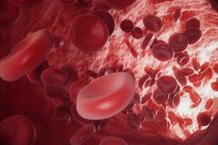Abstrakcjonistyczny czerwony komórek krwi, naukowego, medycznego lub mikrobiologicznego pojęcie, 3d rendering royalty ilustracja