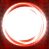 Abstrakcjonistyczny czerwony okrąg Zdjęcie Royalty Free
